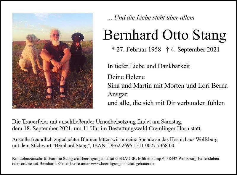 Profilbild von Bernhard Stang