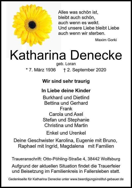Profilbild von Katharina Denecke