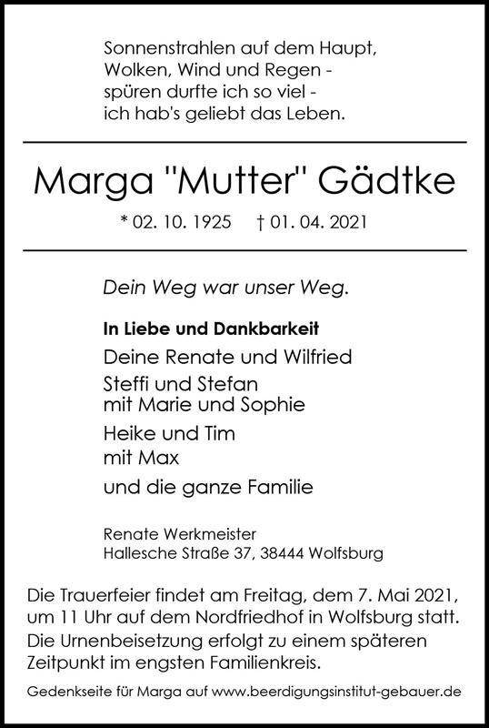 Profilbild von Marga Gädtke