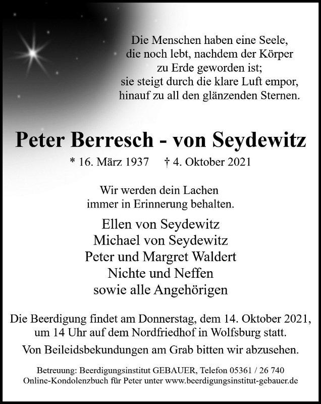 Profilbild von Peter Berresch - von Seydewitz